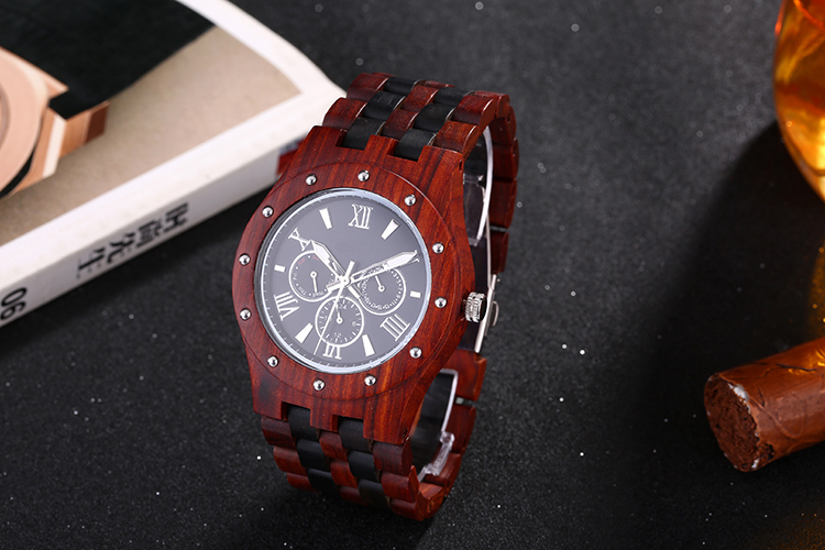 Mens Sport Watch Quartz Wood Wrist Watches Fashion Homme 2017 Chronograph   Wrist Watch Wrist Watch <br>
