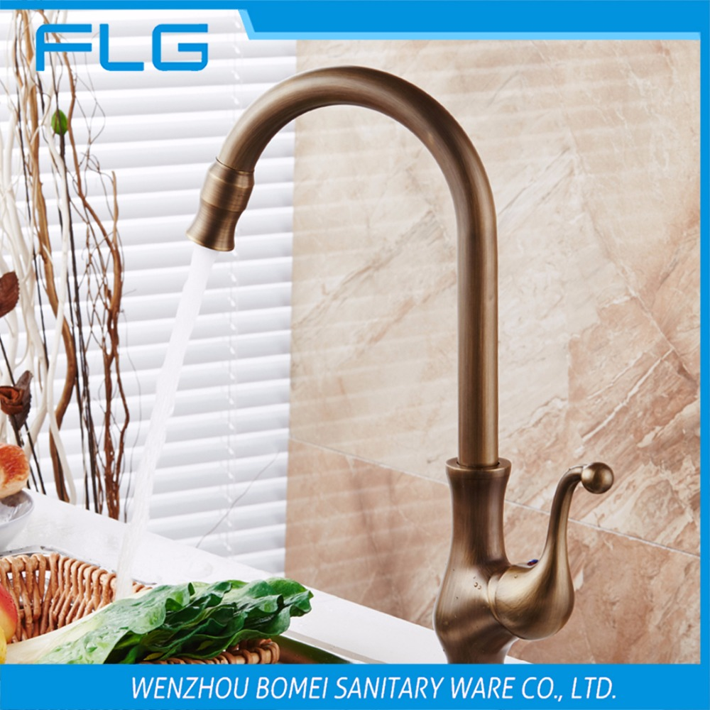 Free Shipping Antique Brass Kitchen Sink Faucet FLG100107<br><br>Aliexpress