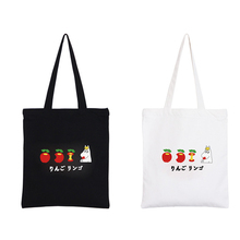 Korea ulzzang Fashion Canvas Tote Simple College Student Bag Eat Apple Design Cute Bags Female Handbags Women Crossbody Bag GK11