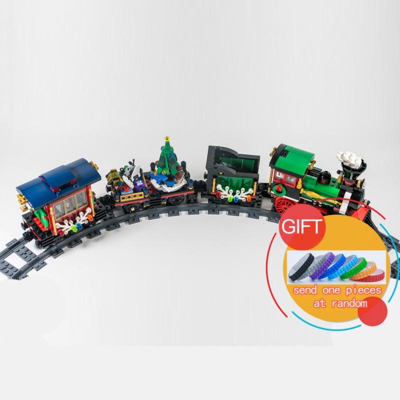 36001 770Pcs Creative Series The Christmas Winter Holiday Train Set Children Educational Building Blocks Bricks Toys 10254 Lepin<br>