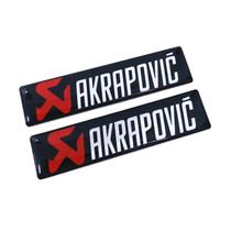2PCS Cool Car Styling 3D Metal Aluminum Sticker Decal Emblem Badge for AKRAPOVIC Car Motorcycle Body Side Door Sticker