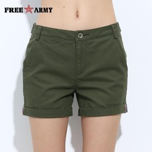FREEARMY Mini Women's Sexy Short Shorts Summer Slim Hot Casual Shorts Girls Military Cotton Shorts Four-Color Plus Size Female(China)
