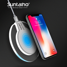 Qi Wireless Charger For Samsung Galaxy S8 S8Plus Suntaiho Fashion Charging Dock Cradle Charger For iphone 8 / 8 Plus X phone(China)
