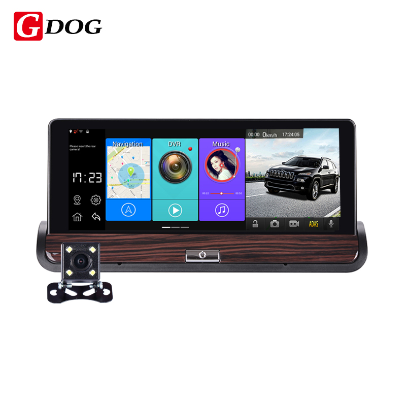 G-dog V40 Full HD Car DVR GPS 7inch Touch Dual Camera WiFi Auto Camera Car Center Console Bus Truck car camera Android 4.4(China (Mainland))