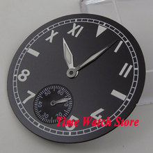 38.9mm black sterial dial California watch Dial fit 6498 hand winding Movement (Dial+hands) D63