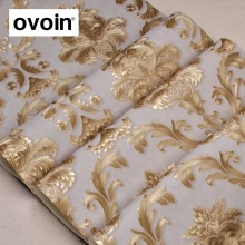 Modern Luxury Glitter Gold Damask Vinyl Wallpaper Roll Bedroom Living Room Wall Paper PVC Vinyl Wall Cover Interior Home Decor
