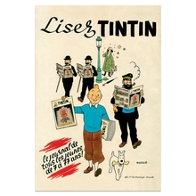 The News TinTin Cartoon Comic Vintage Retro Kraft Coated Poster Decorative DIY Wall Sticker Home Bar Art Poster Decor Gift