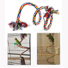 Parrot Toy Rope Braided Pet Parrot Chew Rope Budgie Perch Coil Bird Cage Conure Cockatiel Toy Pet Birds Training Accessories(China)