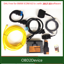 DHL Free For BMW ICOM A2 b c Programming & Diagnostic tool with 03/2017 Rheigold ISTA isid Software ICOM A2 Full Set Cables