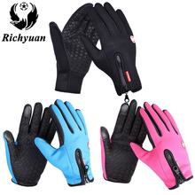 Women Classic Black Winter Leather Gloves Outdoor Sport Driving Touch Screen Gloves Women Men Military Army Guantes Tacticos(China)