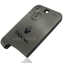 2 Buttons Smart Card Shell Car Key Blank Replacement Case without blade Fit For RENAULT Laguna key