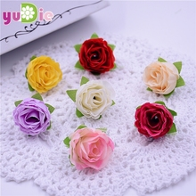 100PCS high quality small rose flowers artificial flowers head brooch festival home wedding decoration flower silk flower(China)