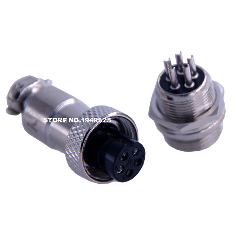 GX12 silver plated contact aviation connector 15/32 12mm 1Pin2Pin3Pin4Pin5Pin6Pin7Pin Female plug&amp;Male Socket<br><br>Aliexpress