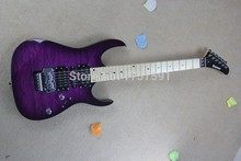 Wholesale Brand new arrival kramer 5150 EVH series ARI tremolo purple Electric guitar free shipping