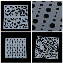 7 styles Flower Cake Cookie Fondant Baking Stencil Wedding Decorating Cake Mold(China)