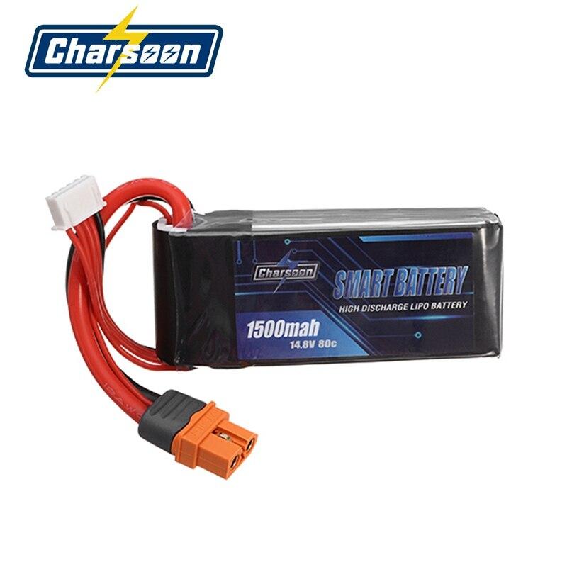 In Stock! Charsoon BattGo 14.8V 1500mah 80C 4S Smart Lipo Battery XT60i Plug For ISDT Linker BG-8S T8 Charger VS for Infinity<br>