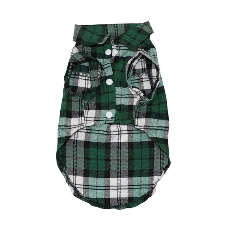 Pet Puppy Dog Clothes Summer Plaid Dog Shirt Coats Jackets Cat Grid Costumes for Small Medium Dogs Yorkies Chihuahua Clothes8