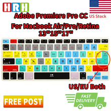 "Buy HRH Adobe Premiere Pro CC Functional Shortcuts Hotkeys Silicone Keyboard Cover Skin Protector Mac Air Pro Retina 13""15"" 17"" for $7.99 in AliExpress store"