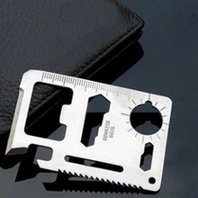 11 in 1 Functions Rescue Card Holders Camping Tool Stainless steel portable Outdoor Survival Knife
