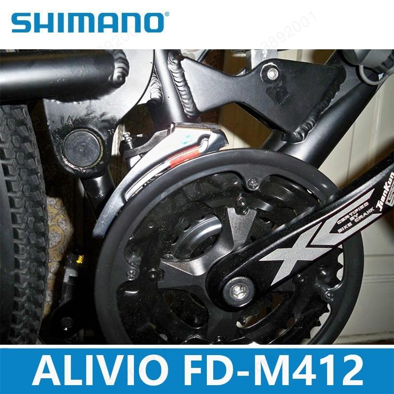 Shimano Bike MTB Alivio Front Derailleur FD-M412 31.8//34.9mm Top Swing