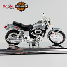 Hot 1:18 Scale Miniature kids Harley 1977 FXS Low Rider Diecast metal model motorcycle auto cars vintage gift toys for child boy