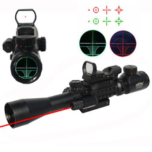 3-9x40EG Riflescope with Four-variable Dot Holographic Sight and Tactical Rail System for Rifle and Airsoft Hunting/Shooting(China)