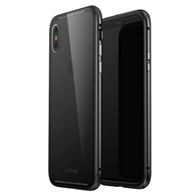 Buy Apple iPhone X Case Luxury Hard Metal Aluminum Frame + Clear 9H Tempered Glass Back Cover Case iPhone X Phone Cases Bags for $20.35 in AliExpress store