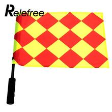 Relefree 1Pcs Soccer Referee Flag Football Judge Sideline Fair Play use Sports Match Football Linesman Flags Referee Equipment