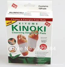 1 boxes Kinoki Detox Foot Pads Patches with Retail Box and Adhesive/Cleansing Detox Foot Pads(1Box=10pcs Pads+10pcs Adhesive)