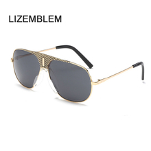 LIZEMBLEM Brand Designer Round Outdoor Mirror Aviation Women Men Sun Glasses Ladies Rayed Pilot Cool Driving Top Sunglasses(China)