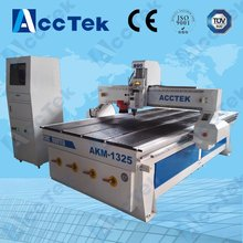 Jinan AKM1325 3 axis vacuum table cnc router, cnc router machine price(China)