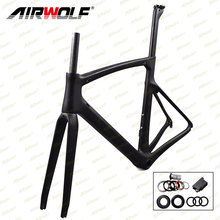 Airwolf Chinese carbon frames with BB86 bottom bracket carbon climbing bike frame size 50/52/54/56cm frame carbon road 2017(China)