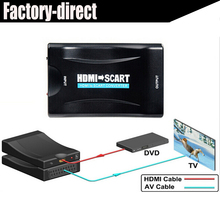 1080p HDMI to Scart converter kabel with power supply for PS4 DVD ect to old TV with scart