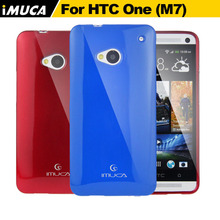 IMUCA brand soft tpu phone cases for HTC ONE M7 801 801E Single Sim Silicone case cover(China)