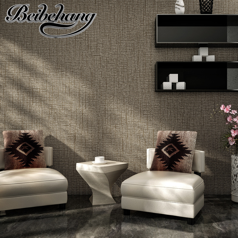 beibehang High Quality Modern Wallpaper Simple texture Walls for wallpaper covering Color Beige,White wallpaper Papel de parede<br>