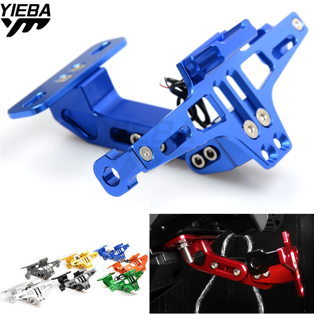 Motorcycle License Plate Bracket Licence Plate Holder Folding FOR YAMAHA YZF-R15 YZF600 R1 R6 R6S USA VERSION XJ6 DIVERSION MT07