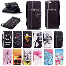 Cartoon Girl Skull PU Leather Case For iPhone 6 6S Plus 4 4S 5 5S SE 5C Flip Wallet Case Silicone Back Cover for 6Plus 6Splus