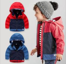 Boys Clothes Jacket Coat 2017 Spring Jacket For Baby Kids Hooded Coat Children Boys Tops Outwear 2-7Y Childrens Clothes(China)