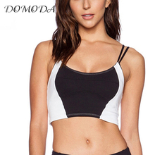 DOMODA  2017 New Fashion Women Black And White Lace Sexy Wireless Bralette Spaghetti Strap Underwear Soft Breathable Nets Bras