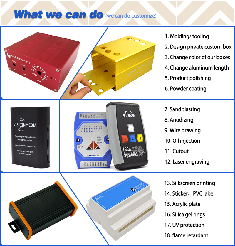 szomk small plastic box for electronics enclosure housing instrument case,1