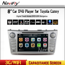 Free Shipping 8 inch Car DVD Player GPS Navigation System For Toyota Camry 2007 2008 2009 2010 2011 BT Steering wheel control(China)