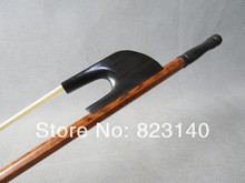 1 PC 3/4 German Style Double bass bow snake wood white bow hair 4003#