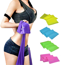 Elastic Resistance Bands Gym Yoga Pilates Stretch Resistance Band Exercise Fitness Band Training Elastic Exercise Fitness Rubber(China)