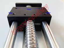 Linear motion 100mm Travel length Ball screw GGP 1605 Sliding Table linear sliding rail + 42 Nama 17 Stepper Motor(China)