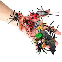 12pcs BOHS Children's Toys Gift Chameleon Centipede Spider Beetle Insect Scorpion Toy Animal Collection Models Action Figures(China)