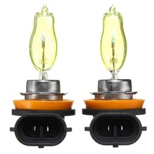 2pcs H11 HOD Auto Car Halogen Headlight Fog Driving Light Lamp Bulbs 3000K Golden Yellow 12V Car Styling