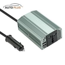 Auto 400W Mini Power Inverter DC 12V to AC 220V-230V Converter with 2.1A Dual USB Car Adapter Charging for Laptops Mobil Phone