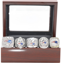 5Pcs/Lot 2001/2003/2004/2014/2016 New England Patriots Super Bowl Championship Ring For Sport Fans US SIZE 8-14 Available(China)