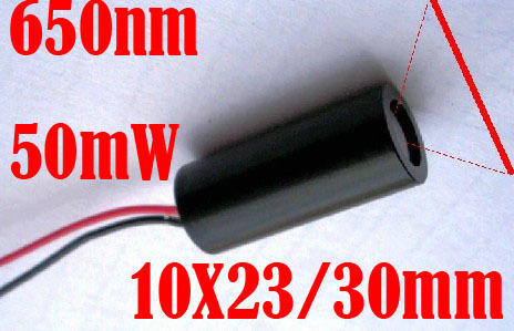 50mW 650nm red laser diode module 10x23/30mm<br><br>Aliexpress