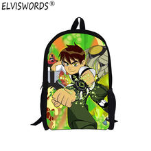 ELVISWORDS New Arrival Ben 10 Backpack for Boys Girls Cartoon Nylon Breathability School Bags for Girls Primary School Students(China)